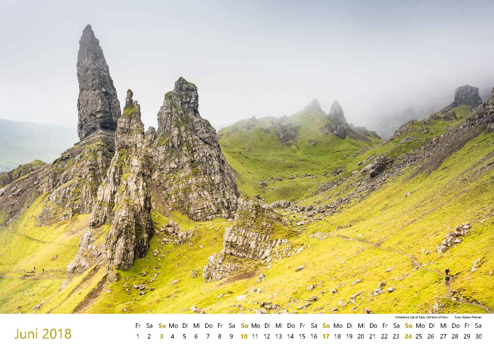 Schottland, Isle of Skye, Old Man of Storr
