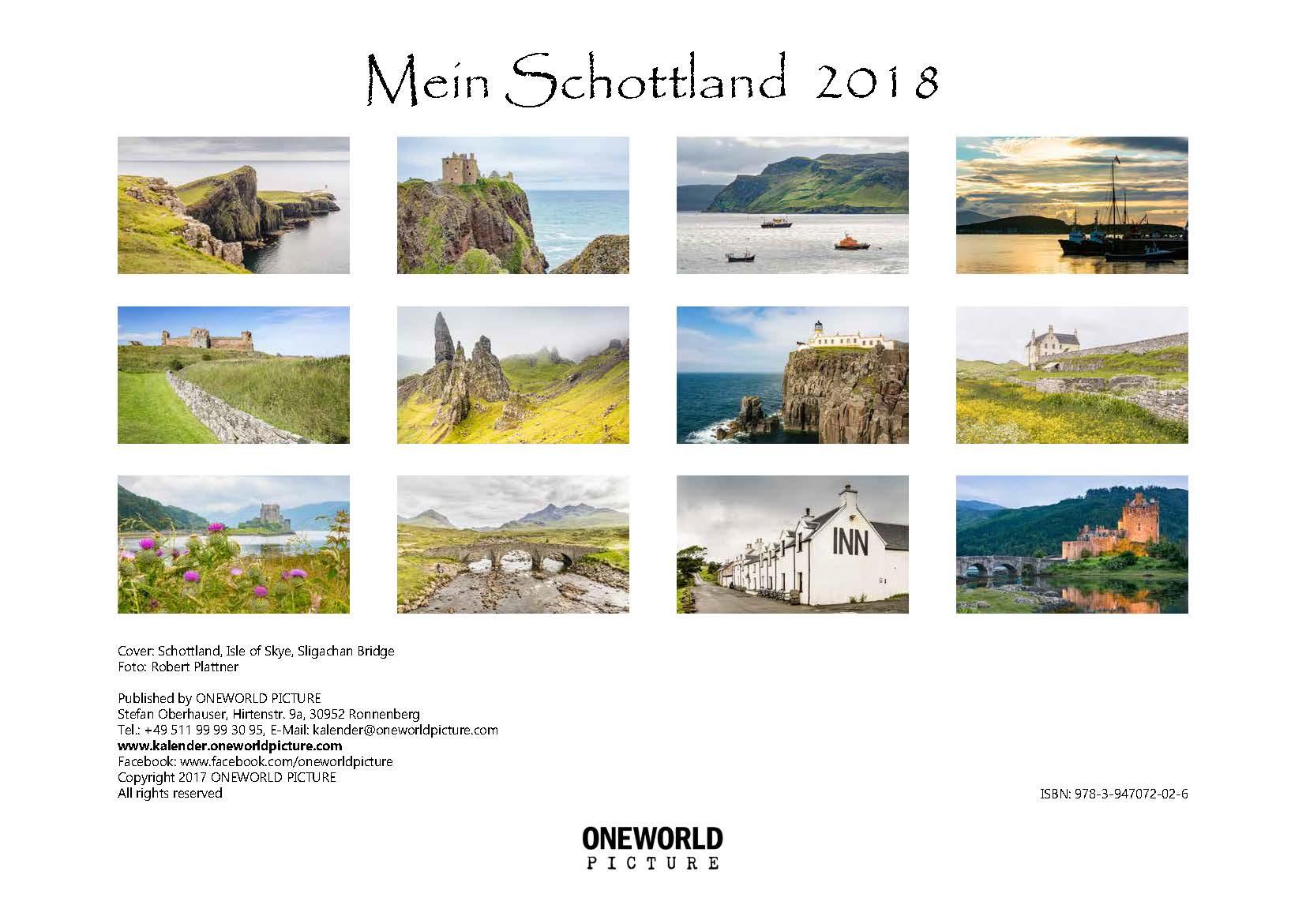 Rückseite - Übersicht - Kalender - Mein Schottland