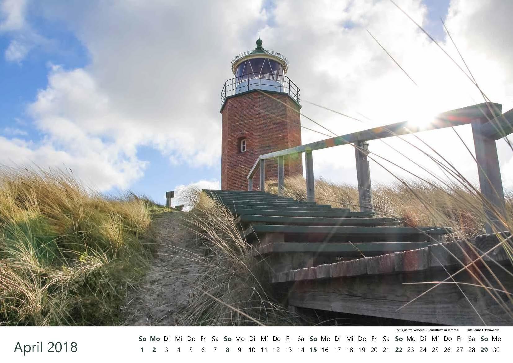 Sylt, Quermarkenfeuer - Leuchtturm in Kampen