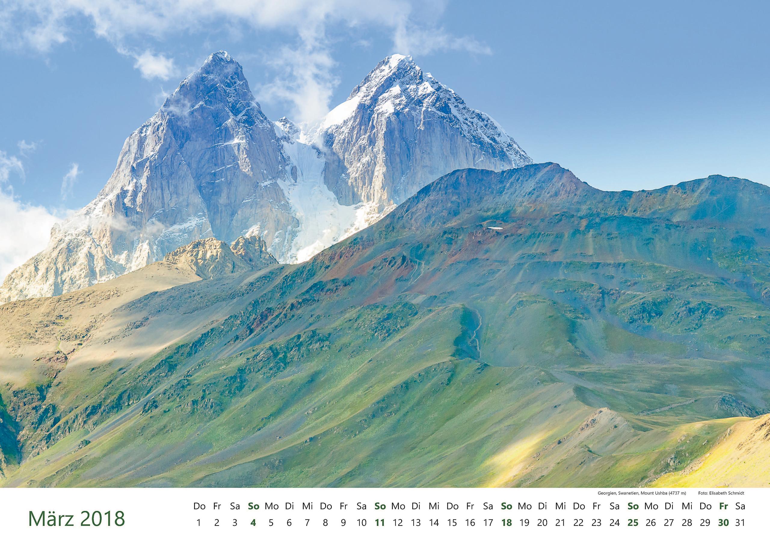 Georgien, Swanetien, Mount Ushba (4737 m)