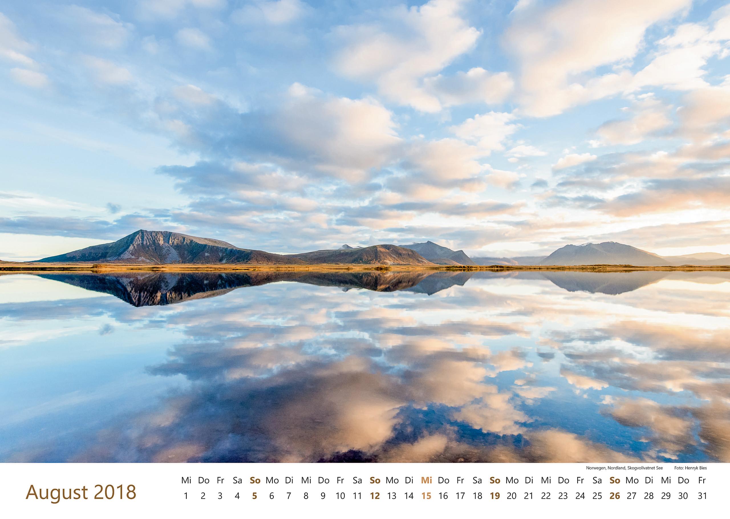 Norwegen, Nordland, Skogvollvatnet See